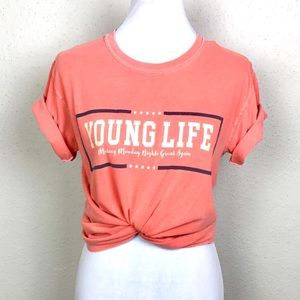 "Comfort colors ""Young Life"" graphic t-shirt size S"